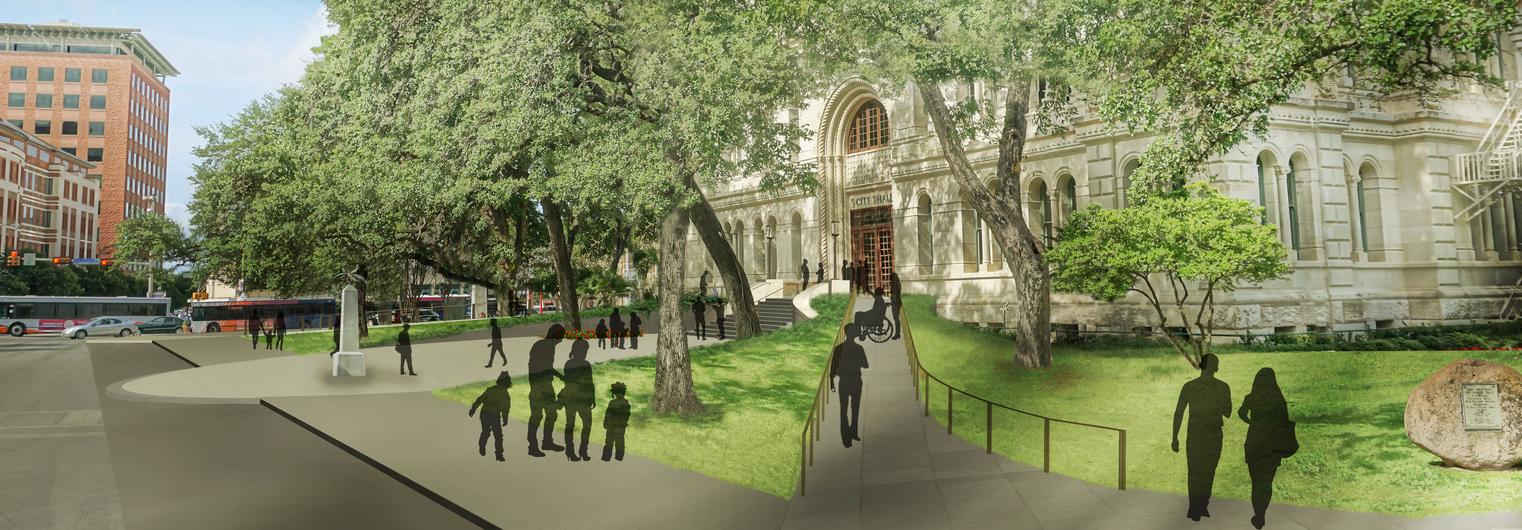 San Antonio City Hall Entry Plaza
